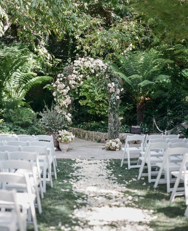 Romantic garden ceremony | Amy & Stuart Photography