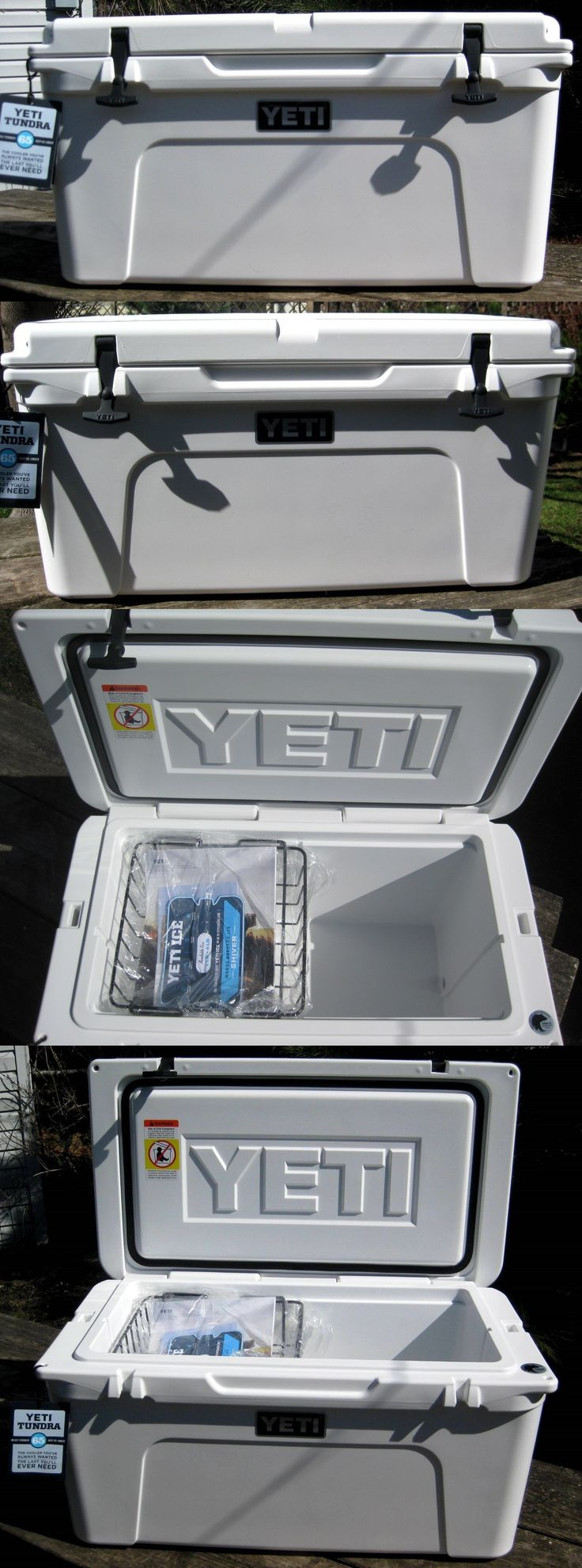 Camping Ice Boxes and Coolers 181382: *New* Yeti Tundra 65 Quart White Hard-Side Cooler - Yt65w -> BUY IT NOW ONLY: $330 on eBay!