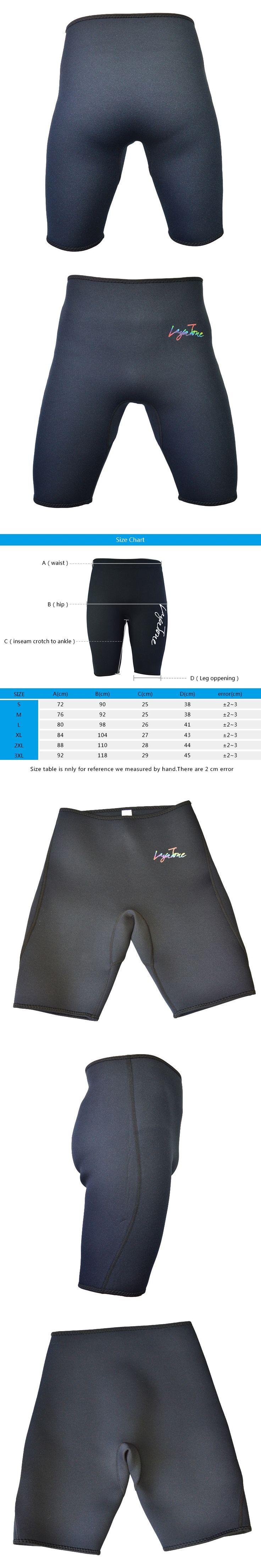 Layatone black Men Women 3mm Neoprene Surfing Wetsui Shorts Wet Suit Pants K1602D