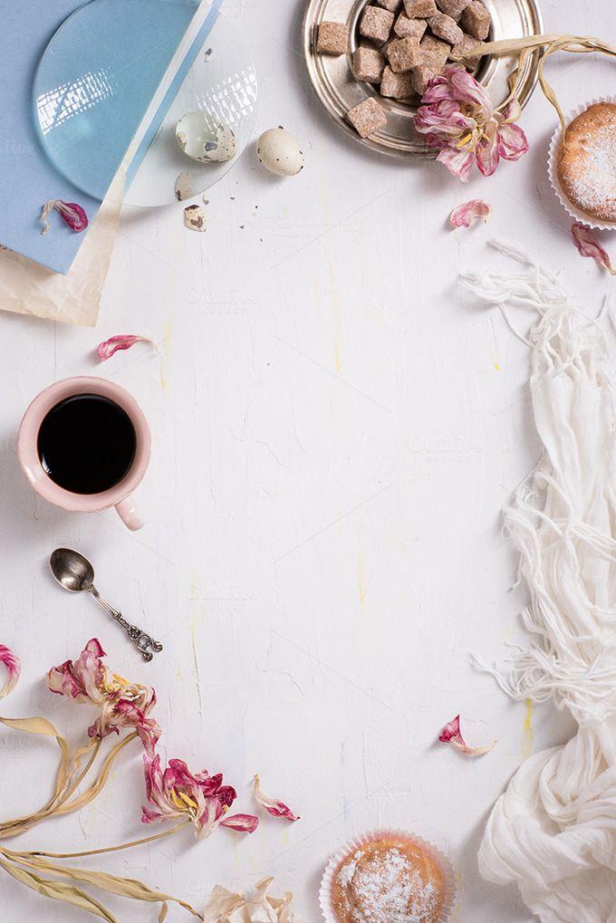 Sweet breakfast background. by Iuliia Leonova on @creativemarket