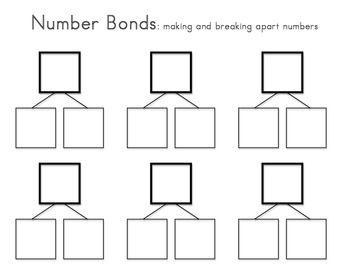... Number Bonds, Addition Facts, Bond Templates, Numbers Bond, Number