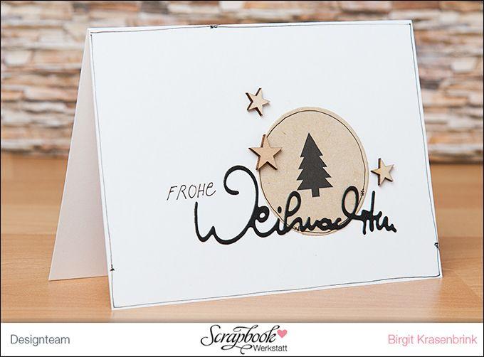 """Weihnachtskarte mit der Serie """"Winter Paperie"""" von """"Teresa Collins"""" aus der Scrapbook-Werkstatt   SCRAP´ inFeACTed"""