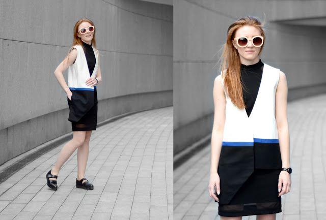 Claudia in Scotch Blue Vest - The White Print