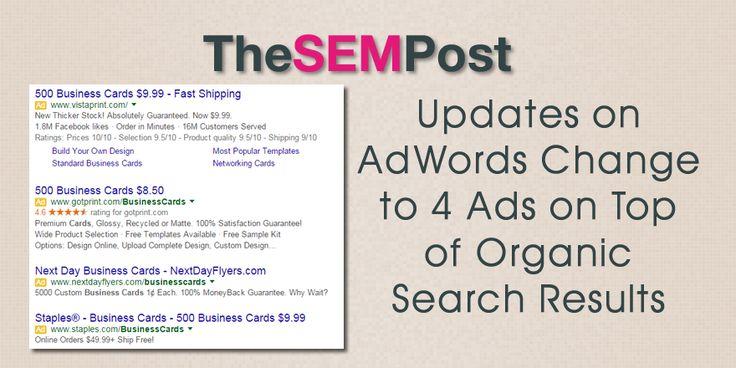 Updates on Google's 4 #AdWords Ads & No Sidebar Ads Change
