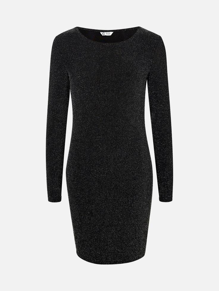 Vilde kjole i lurex | | Svart | Cubus | Norge
