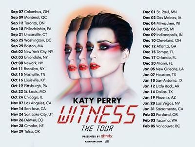 #tickets (2) 9th Row CLUB Katy Perry Tickets, 12/9, Bankers Life Fieldhouse Indianapolis please retweet