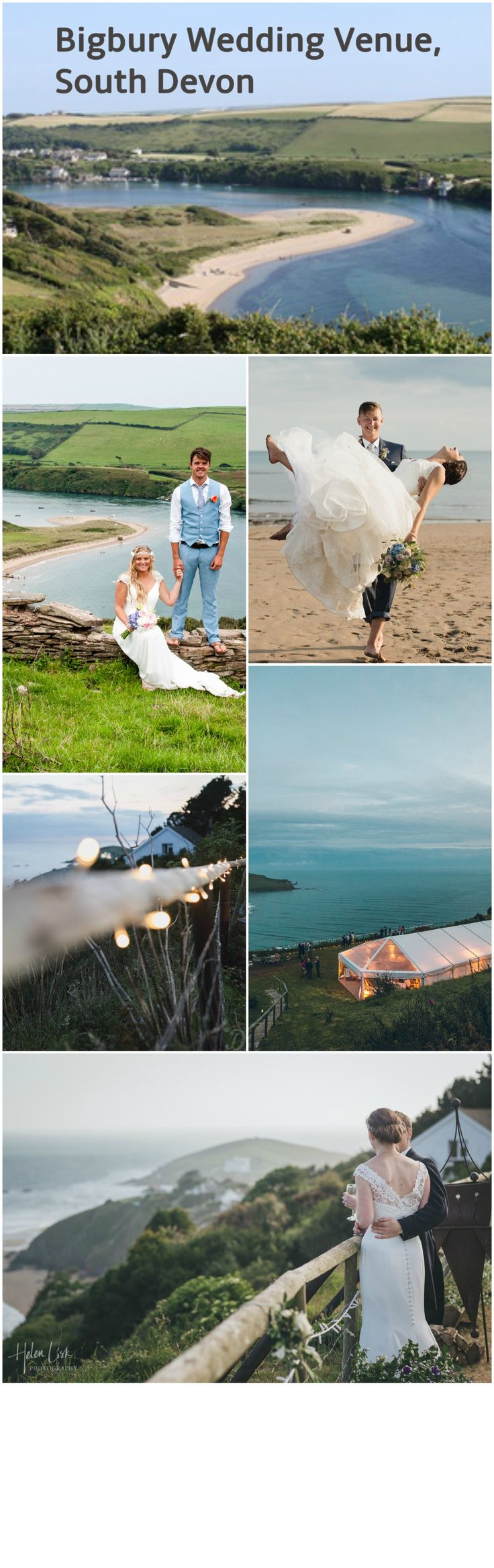 Bigbury Wedding Venue, Devon is perches on a specially levelled site overlooking the spectacular Bantham beach and Avon Esturary. A perfect wedding venue with an AWESOME view.