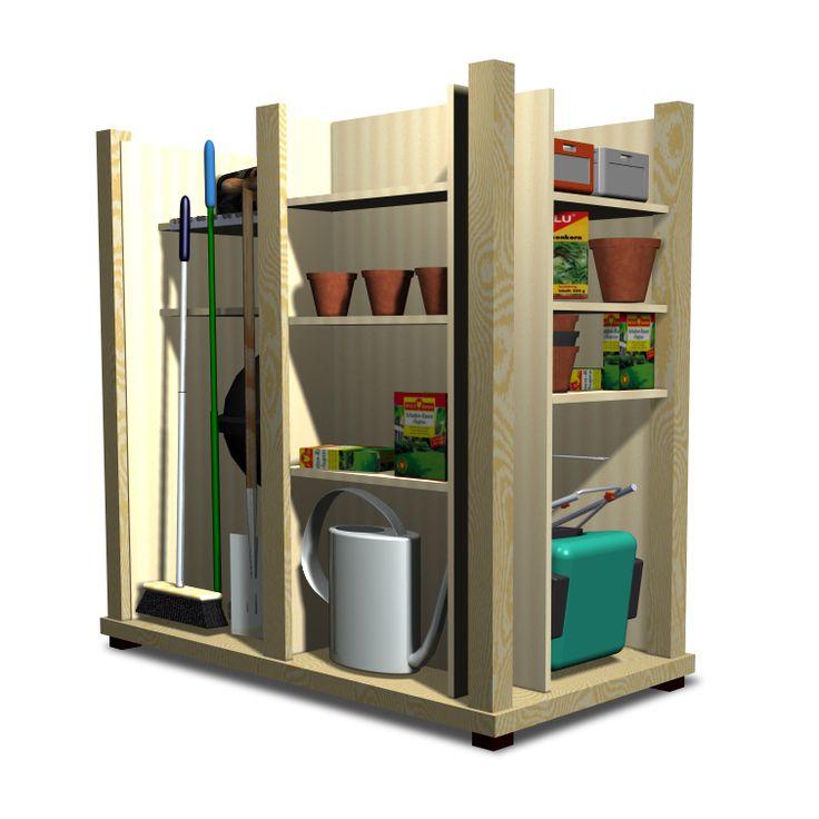 Kunststoff Gartenschrank wartungsfrei und modern