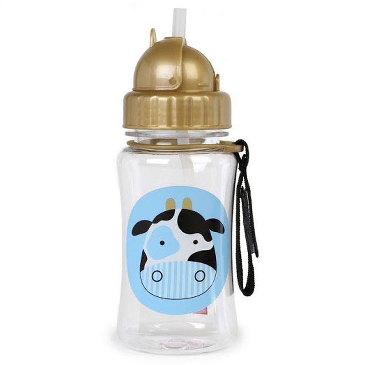 "Kids love the bright and colourful Skip Hop Zoo flip top lid straw drink bottles. If your baby is ready to move to a ""big"" cup, this range of  cute kids drink bottles is the best way to start."