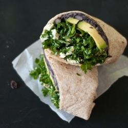 ... but oh-so-tasty burrito filled with black beans, raw kale and avocado