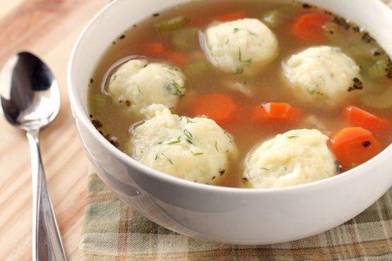 Potato dumplings - Gluten free low FODMAP dumplings (Matzah Balls/Kneidlach) recipe you can use to enhance a soup.