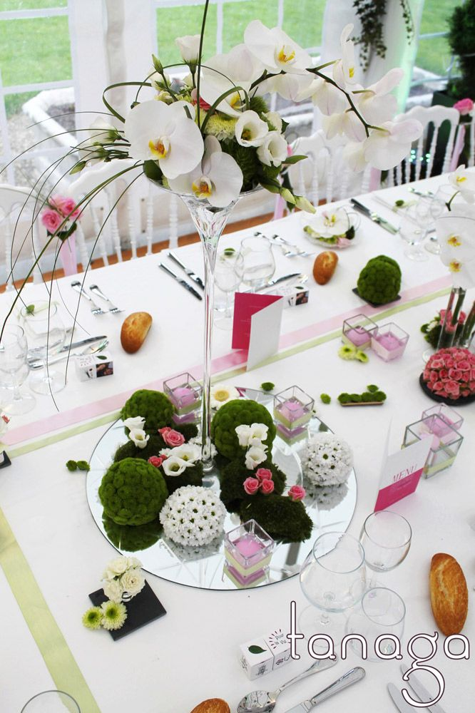 Centre de table mariage by tanaga ambiance designer for Pinterest centre de table
