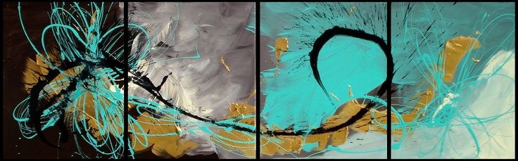 4 canvas painting in Teal #2 AU$300
