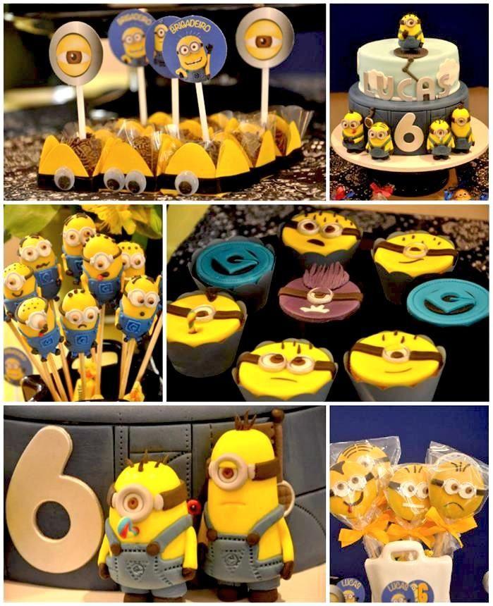 Despicable Me Minion Party with Lots of Cute Ideas via Kara's Party Ideas Kara'sPartyIdeas.com #Minion #Party #Ideas #Supplies