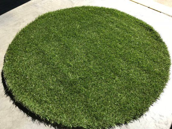 3 Circular Grass Mat Indoor Outdoor All Green Artificial Grass Available In Many Sizes Free Artificial Grass Synthetic Grass Residential Landscaping