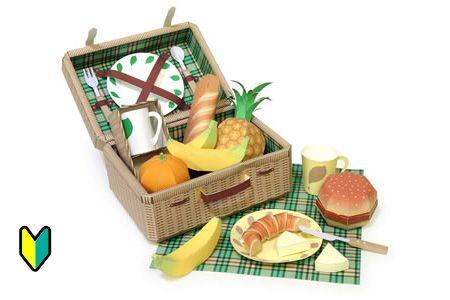 Let's ピクニック|飲み物・食べ物のペーパークラフト|びばれっじキッズ|キリン