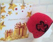 """Bonnet femme """" Stendhal"""" Le rouge et le noir : Chapeau, bonnet par de-laine-en-aiguilles"""