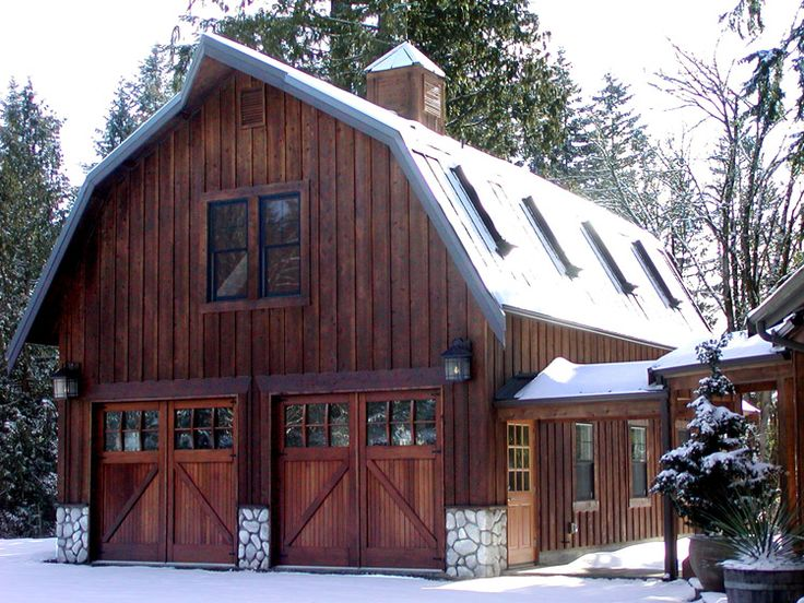 Gorgeous gambrel barn garage @Mary Powers Fredrick I can see your garage transformed into this!