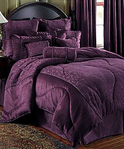 Charlotte Plum Comforter Set Deep Purple Colors And
