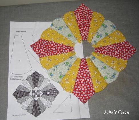 Julia's Place  dresden plate variation