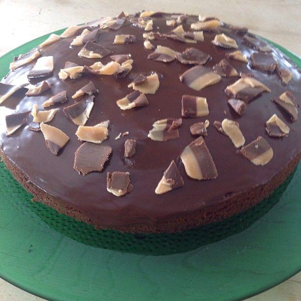 #påskekos #sjokoladekake #vaniljefudge til pynt #cake #instacake #chocolade #vanillafudge #nydelig #hytta #liveterherlig