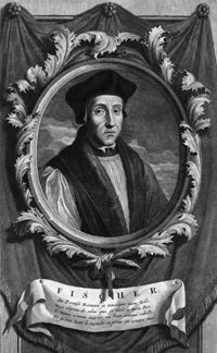 """Bishop John Fisher, executed because he would not sign the Oath of Supremacy. After his imprisonment he was made a Cardinal by Pope Clement. This was a calculated move by the Pope in order to dissuade Henry from executing Fisher. Upon learning this, Henry famously said, """"Send the hat, and when it arrives Fisher shall have to carry it on his shoulders, as he will have no head to put it on."""" Fisher was executed just several weeks before Thomas More in 1535. Both are considered martyrs."""