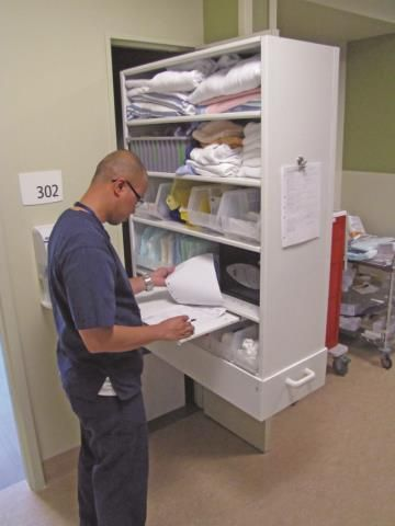 CoreStor Nurse Server A Medical Supply Cabinet In Single Patient Rooms Located At St Mays Hospital Sechelt British Columbia