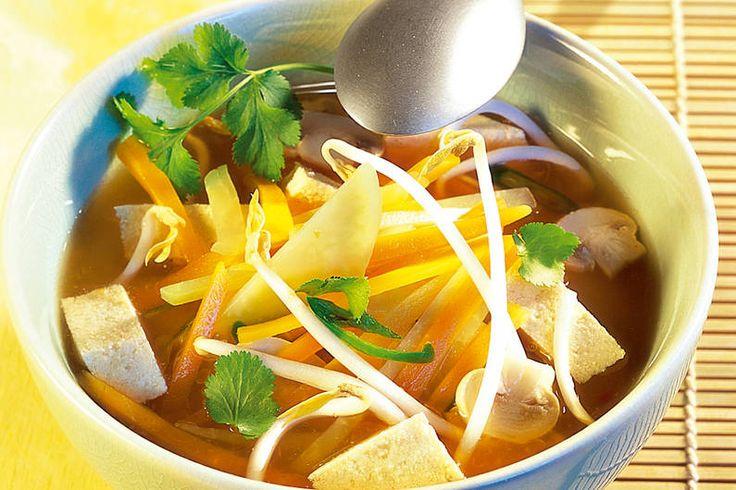 Asia-Suppe mit Tofu