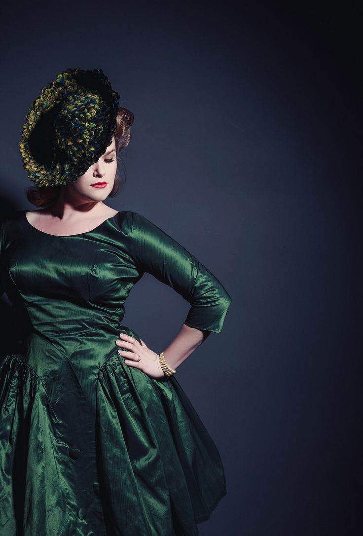 1950sCocktail Dress Real Green Dress | Vintage Dresses and Accessories: Real Green Dress