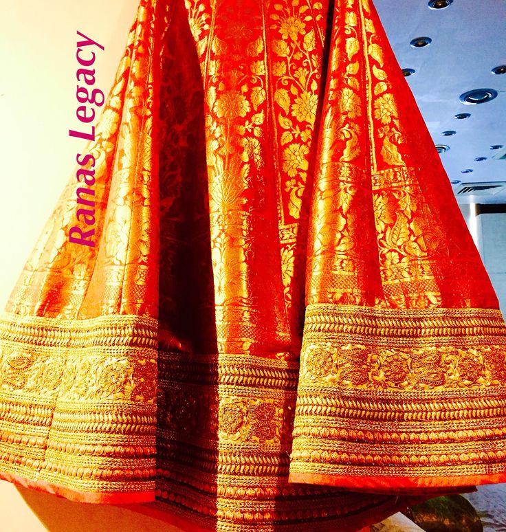 Banarsi Lehenga Red by Ranas Legacy Jaipur