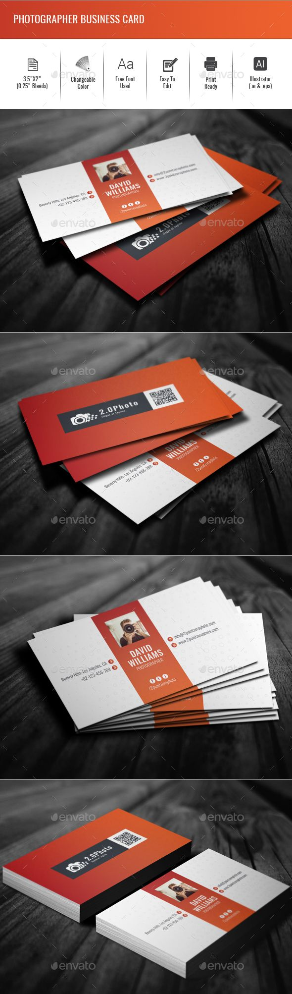 12 best business cards images on pinterest carte de visite photographer business card creative business cards download here https reheart Choice Image