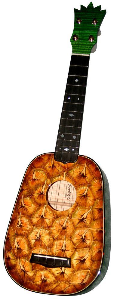 Talsma painted pineapple soprano ukulele #LardysWishlists…