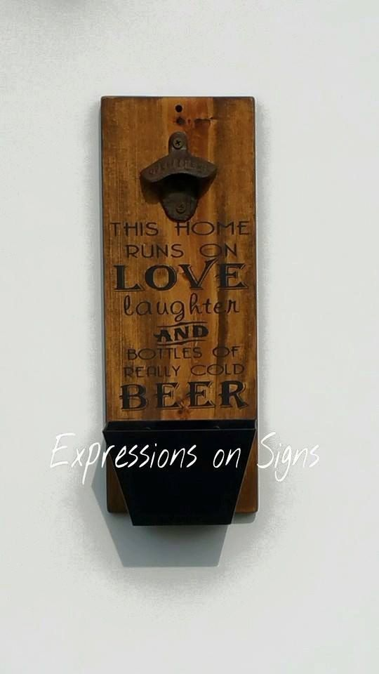 Check out this item in my Etsy shop https://www.etsy.com/listing/230190830/bottle-opener-with-cap-catcher-wall
