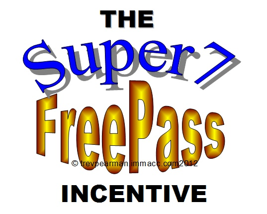 Brand New Incentive Program that could see you driving a new car,a new boat, motorcycle, jet ski,or just about any new toy you think of, or how about having your rent paid or your mortgage down-paid. not to mention your membership free for life when you achieve your Super7FreePass. You wont believe your ears so tune in today.  http://www.immacc.com//pub-dream-incentive.php?id=TrevPearman