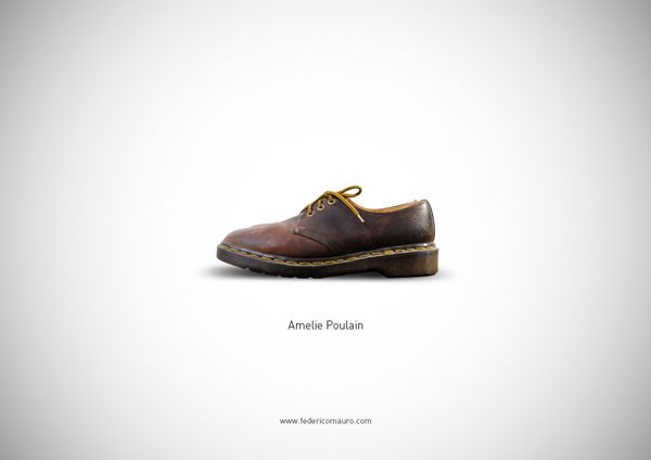 Famous Shoes. Amelie Poulain by Federico Mauro