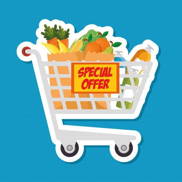 Desenhos Animados Do Carrinho De Compras Do Supermercado Carrinho De Mercado Carrinho Desenho Carrinho De Compras