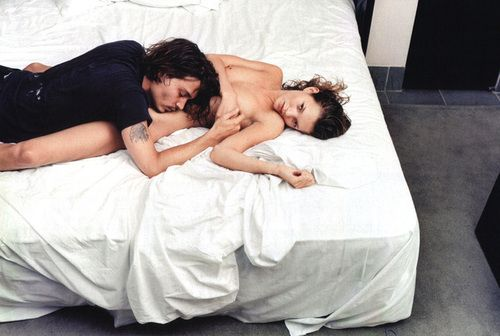 Kate Moss + Johnny Depp in the 90s