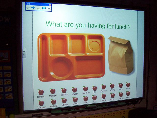 using smartboard to take lunch count/attendance