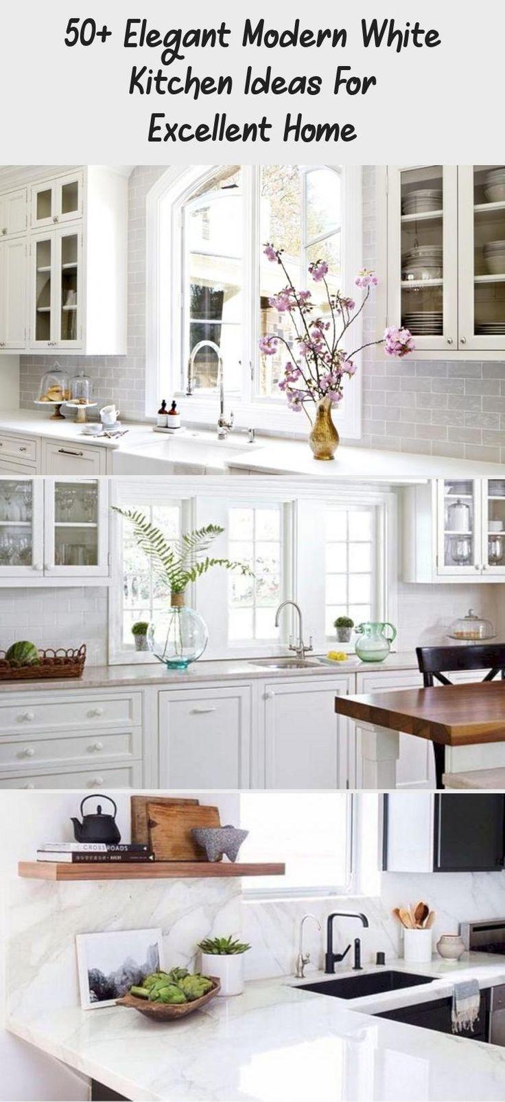 50 elegant modern white kitchen ideas for excellent home 909 modernkitchendesignwhite on kitchen ideas elegant id=78998