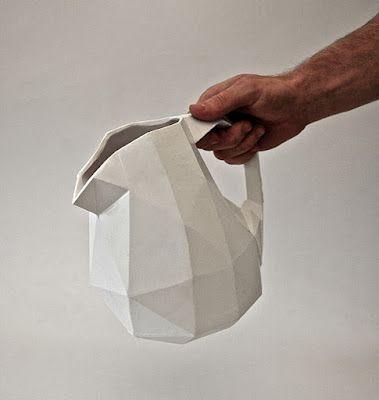 Christian Fiebig + Adrien Petrucci / paper cast / tableware