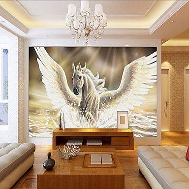 JAMMORY 3D Wallpaper For Home Contemporary Wall Covering Canvas Material PegasusXL XXL XXXL 5528372 2017 – $84.99
