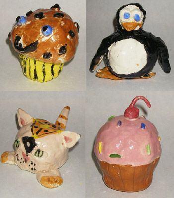 5th Grade Art with Mrs. Brown Clay Maracas art lesson project elementary ceramic