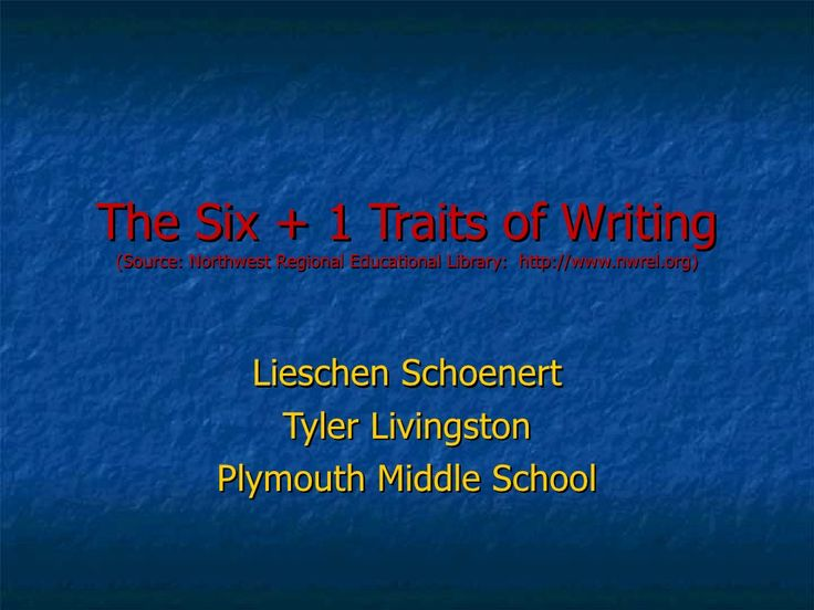 the-six-traits-of-writing-powerpoint-for-training by gurmit via Slideshare