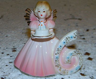 Vintage Josef Originals 6 th Birthday Angel Pink Girl Figurine