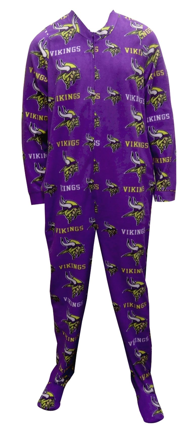 Minnesota Vikings Guys Onesie Footie Pajama Show your team spirit! This cozy microfleece footie pajama for men features the cla...