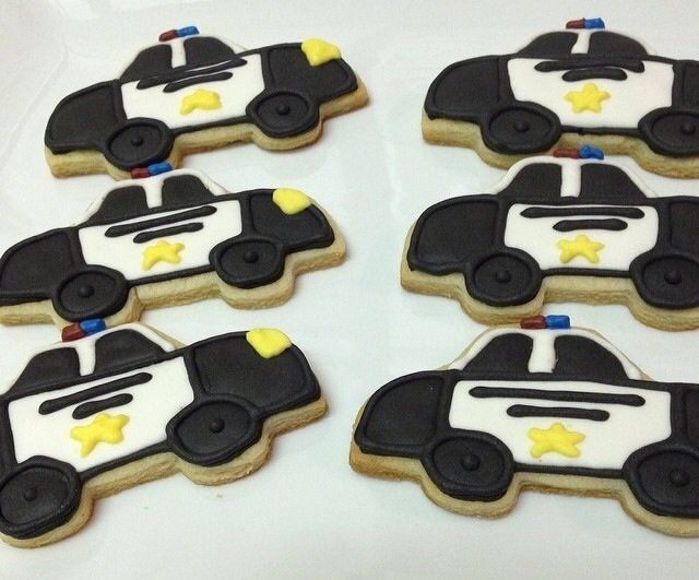 Police Car sugar cookies