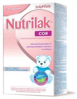 Nutrilak Смесь Нутрилак Премиум СОЯ  — 454р. ------------------- Смесь сухая специализированная на основе изолята соевого белка Для диетического лечебного питания детей с первых дней жизни при непереносимости белков молока, лактазной недостаточности, галактоземии Полноценная сбалансированная смесь, обеспечивающая особые диетические потребности ребенка первого года жизни в основных пищевых веществах и энергии. Показания к применению: Галактоземия Непереносимость белков коровьего молока…