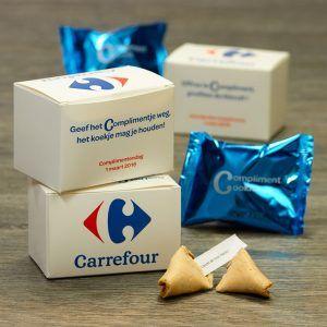 Fortune Cookies voor Nationale Complimentendag. Carrefour deelt complimentjes weg! Het gelukskoekje mag je houden...