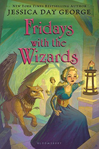Fridays with the Wizards (Tuesdays at the Castle) by Jessica Day George (3/16)  --  When the dangerous ancient wizard Arkwright escapes the dungeon and goes missing within the Castle, Princess Celie must find the wizard and save her family.