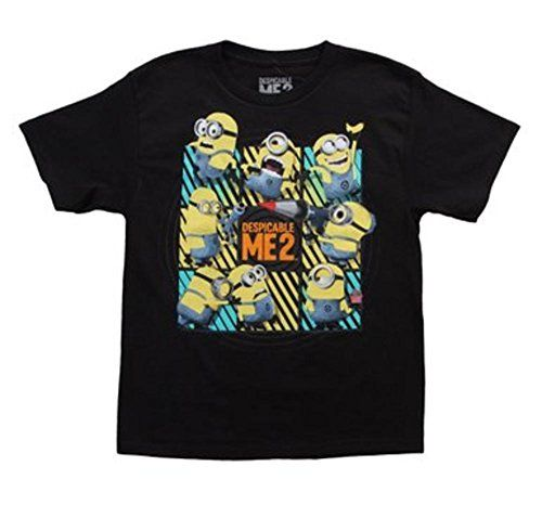 Despicable Me Youth Be Serious Black Large T-Shirt @ niftywarehouse.com #NiftyWarehouse #DespicableMe #Movie #Minions #Movies #Minion #Animated #Kids